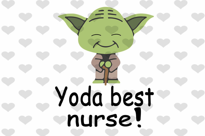 Yoda Best Nurse Funny PNG, Digital Download