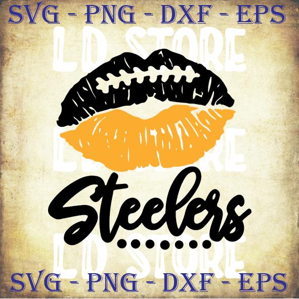 Steelers Lips SVG - Pittsburgh Steelers Svg - Steelers Cut files- Vector