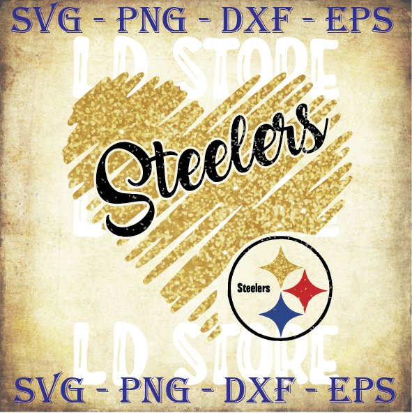 Steelers Glitter Heart SVG - Pittsburgh Steelers Svg - Steelers Cut files-