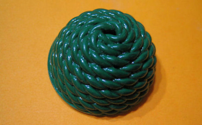 Extruded Celluloid Button, Green, NBS Large