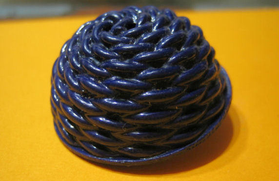 Extruded Celluloid Button, Blue, NBS Large