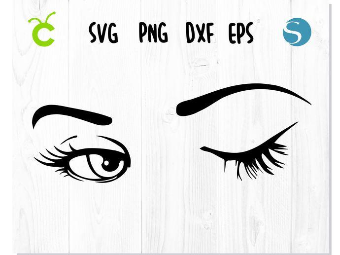 Winking svg Eyelashes svg Wink svg Smiley face svg Eye svg Eyes svg Winking eye
