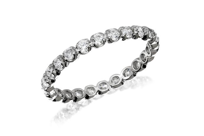 Full Circle Prong Eternity Ring