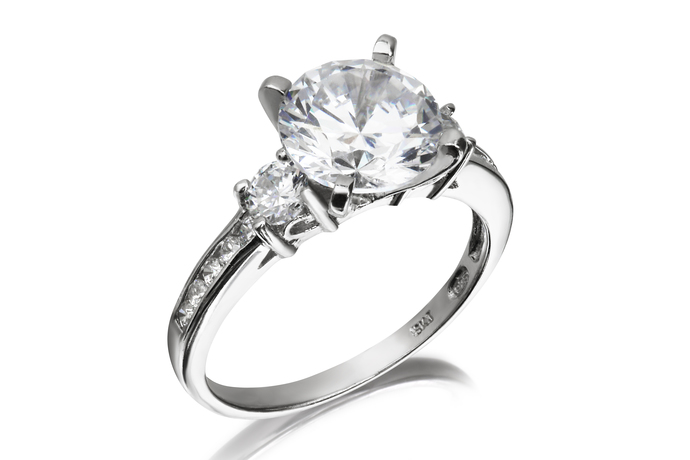 Solitaire Trilogy Ring