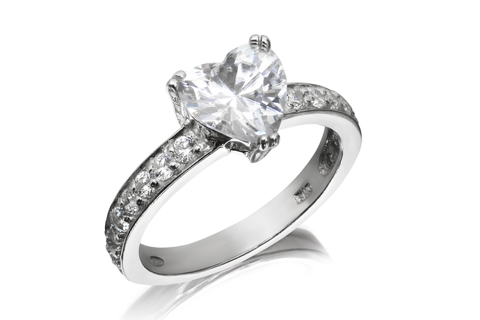 Classic Heart Solitaire Ring