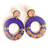 Royal Color Explosion; Casual Post Dangle Earrings in Royal Purple with a Flash