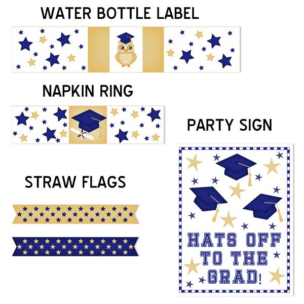 Graduation Printable Party Kit (Blue)