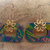 Royal Color Explosion; Unique Shape Dangle Earrings in Royal Colors with a