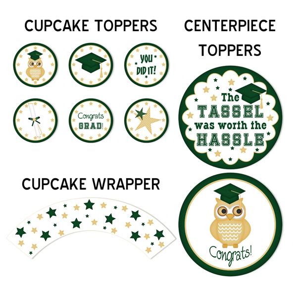 Graduation Printable Party Kit (Green)