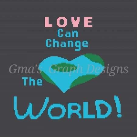 Love can change the world throw 150 x 150 sc