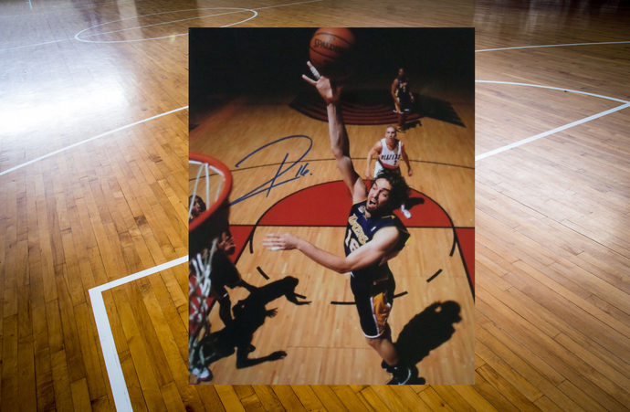 Pau Gasol Los Angeles Lakers 8 by 10 signed photo