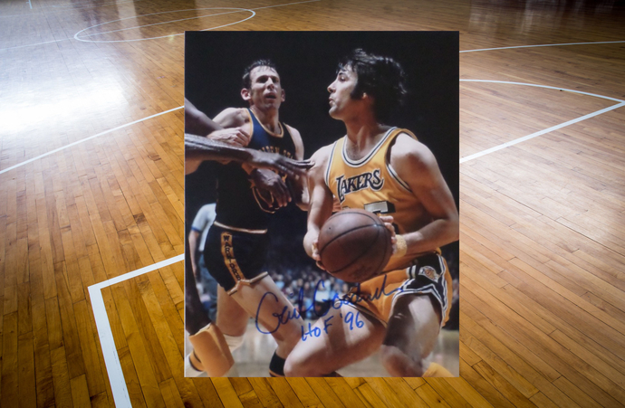 Gail Goodrich Los Angeles Lakers 8 x 10 signed photo