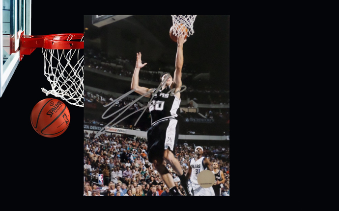 Manu Ginobili San Antonio Spurs 8 x 10 signed photo