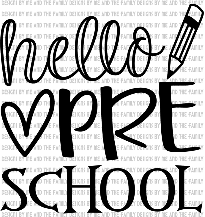 Hello Pre School, peace love students, peace love teachers, essential, back to