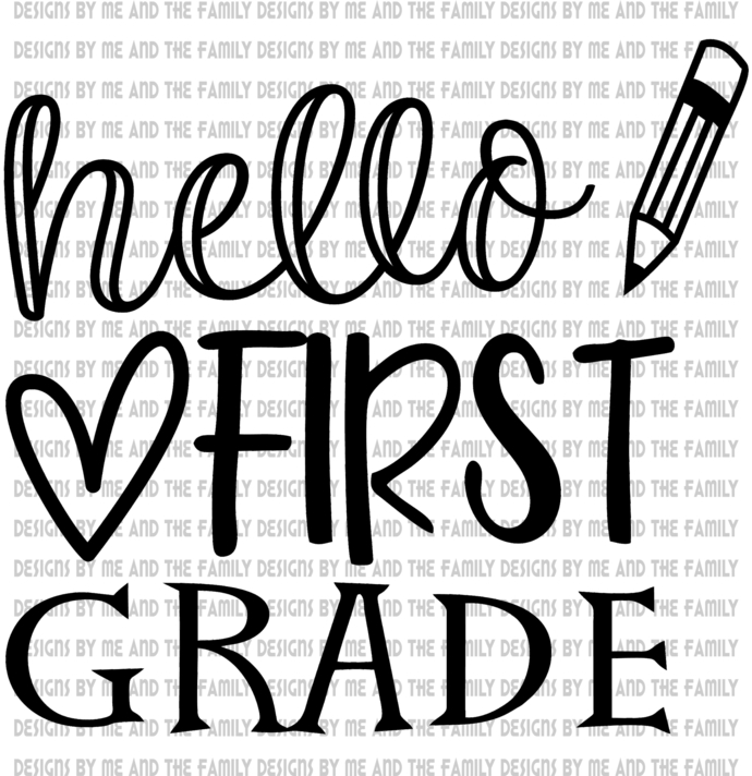 Hello First Grade, peace love students, peace love teachers, essential, back to