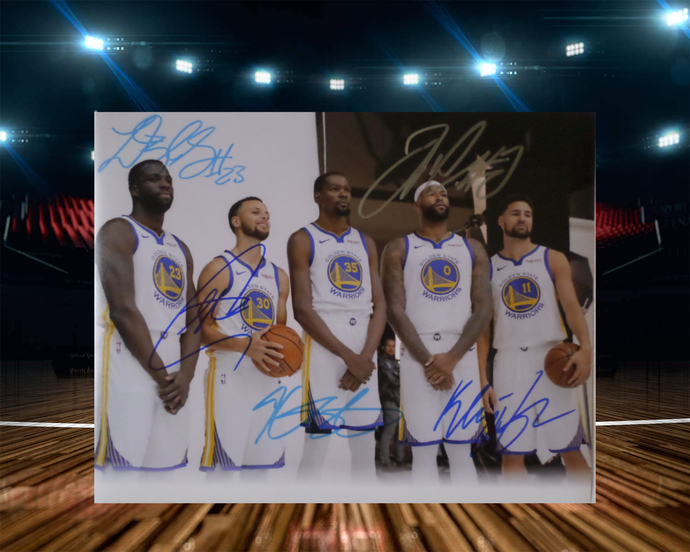Draymond Green Kevin Durant Steph Curry 8 by 10 signed photo