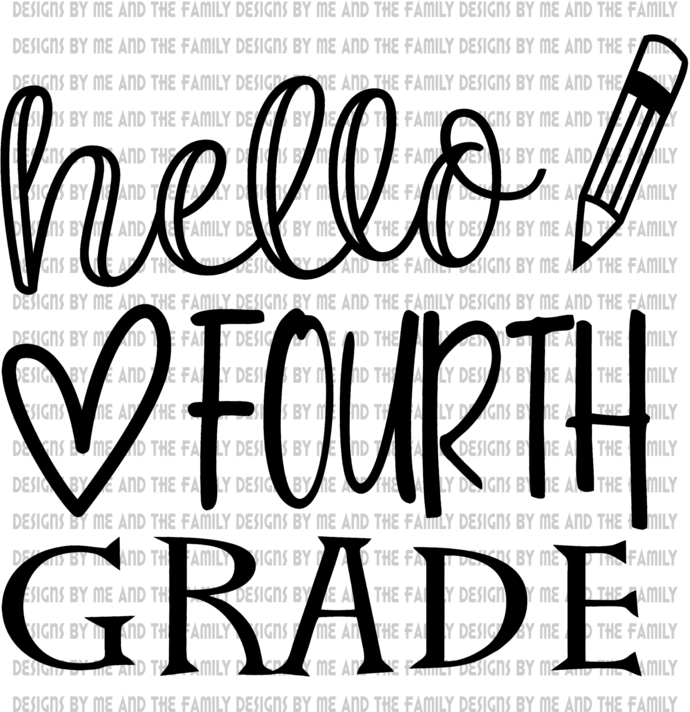 Hello Fourth Grade, peace love students, peace love teachers, essential, back to