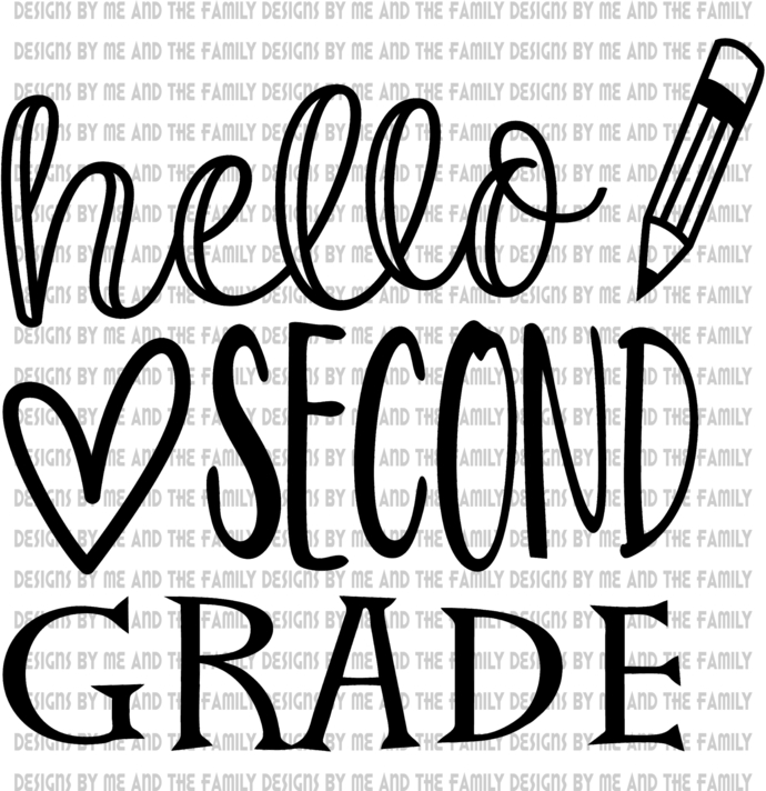 Hello Second Grade, peace love students, peace love teachers, essential, back to