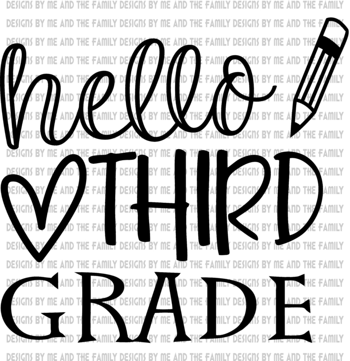 Hello Third Grade, peace love students, peace love teachers, essential, back to