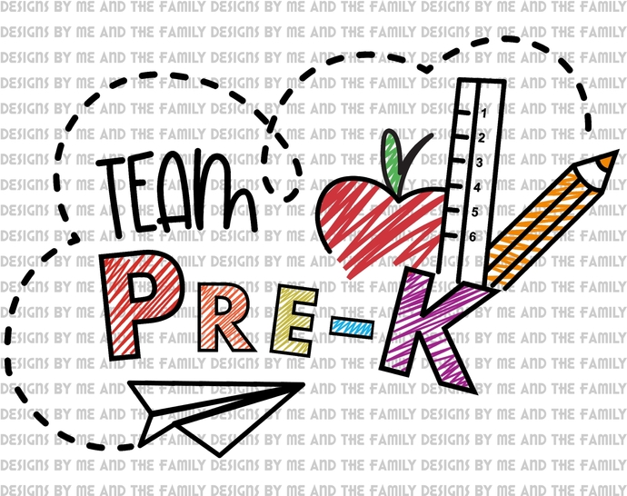 Team Pre-K, squad goals, teacher, Summer School, Back to school, ask for other