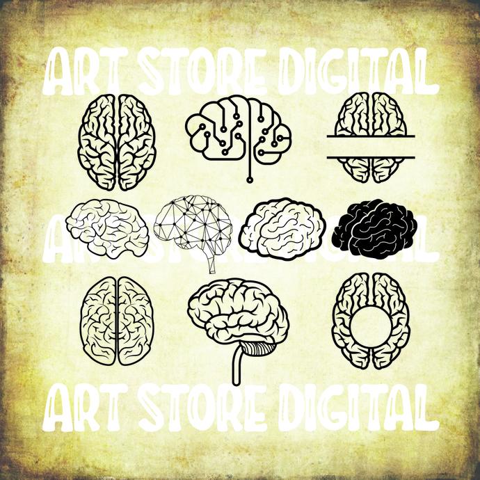 BRAIN SVG / Human brain SVG / Brain vector / brain silhouette / halloween svg /