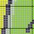 Split Monogram --J is for Jenna -- Throw SC, Graph + Color coded block written