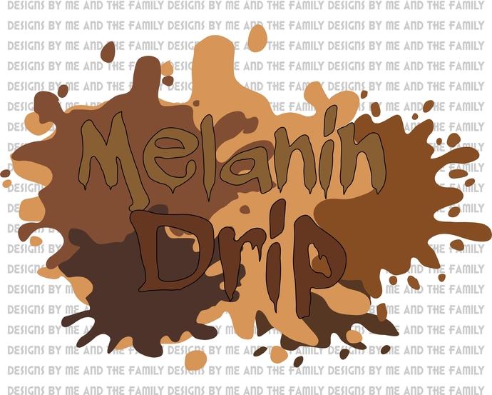 Melanin Svg, Melanin Paint Drip Svg, Melanin Color Shades Svg, Love Your Skin,