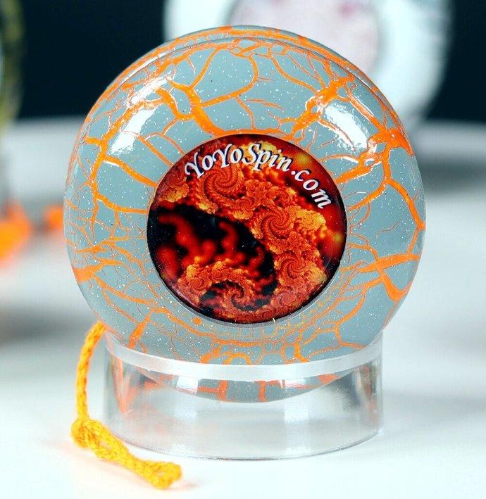 Fractal-Crackle Yo-Yo ... Grey/Orange