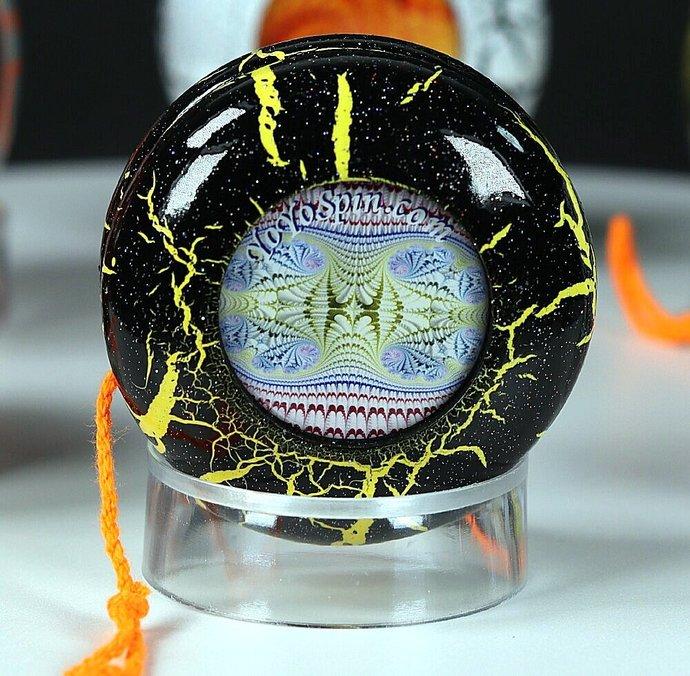 Fractal-Crackle Yo-Yo ... Black/Yellow