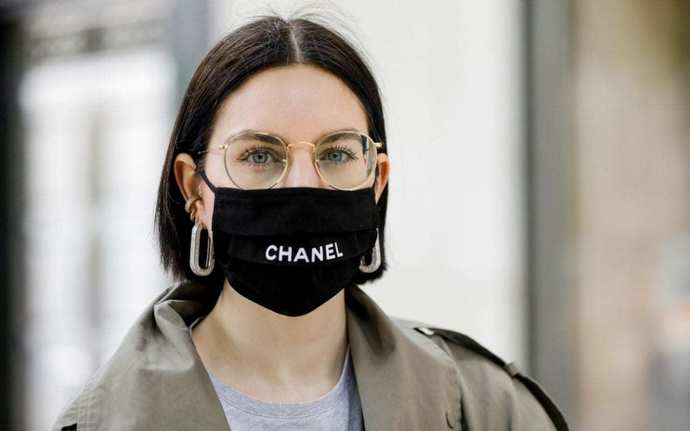Chanel Face Mask Coco Logo Face Mask Cover, Fashion Face Mask