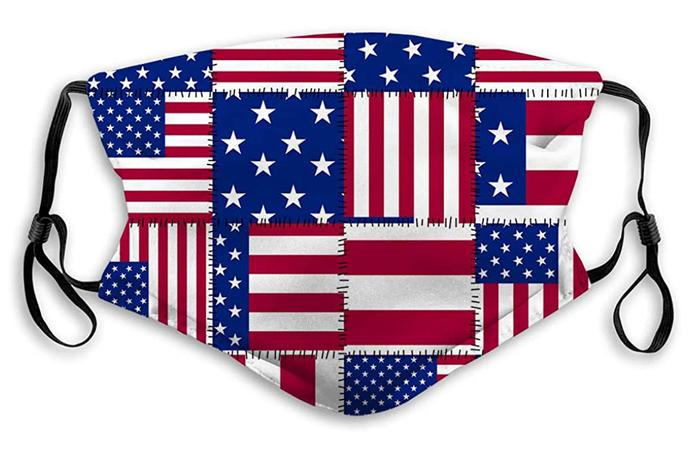 American Flag Preventative Face Mask, USA flag face mask, adult face mask