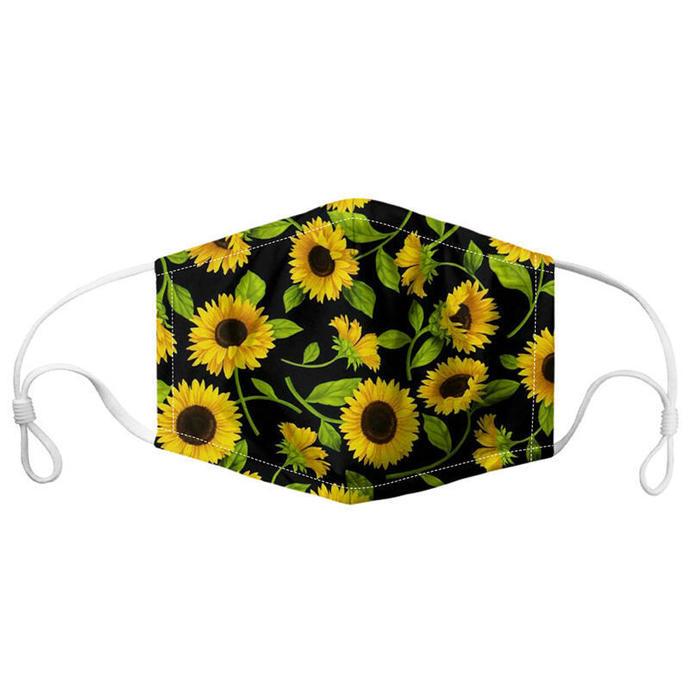 Sunflower Face Mask, flower face mask, adult face mask