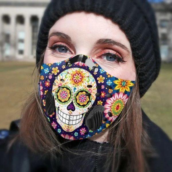 Flower Face Mask, fashion face mask, adult face mask
