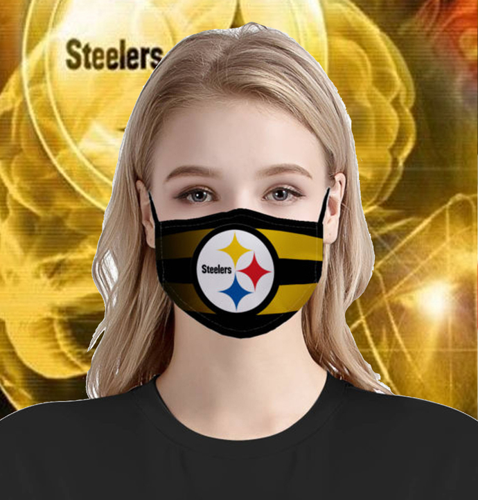 US Pittsburgh Steelers Face Mask, fashion face mask, adult face mask, branding