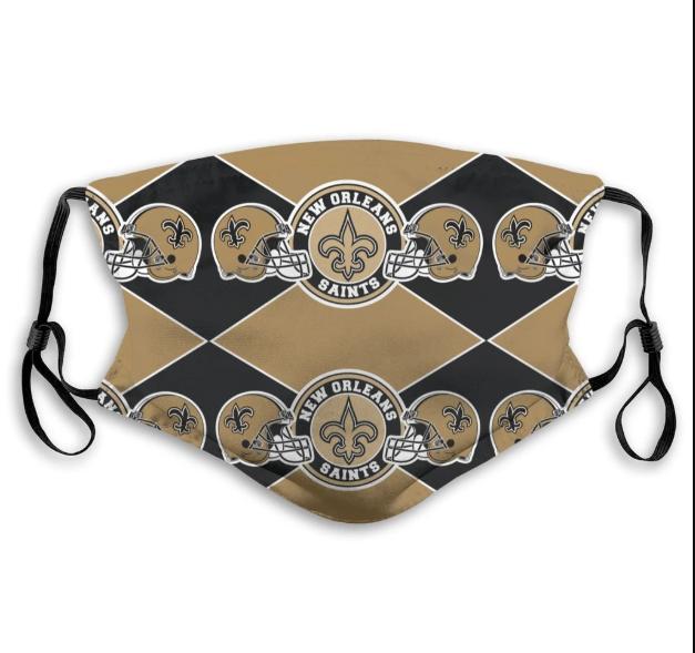 New Orleans Saints Cloth Face Mask, adult face mask, branding logo face mask
