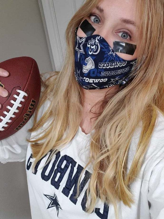 Dallas Cowboys Washable Facemask. Made in Texas, Shipped from Texas! Same Day