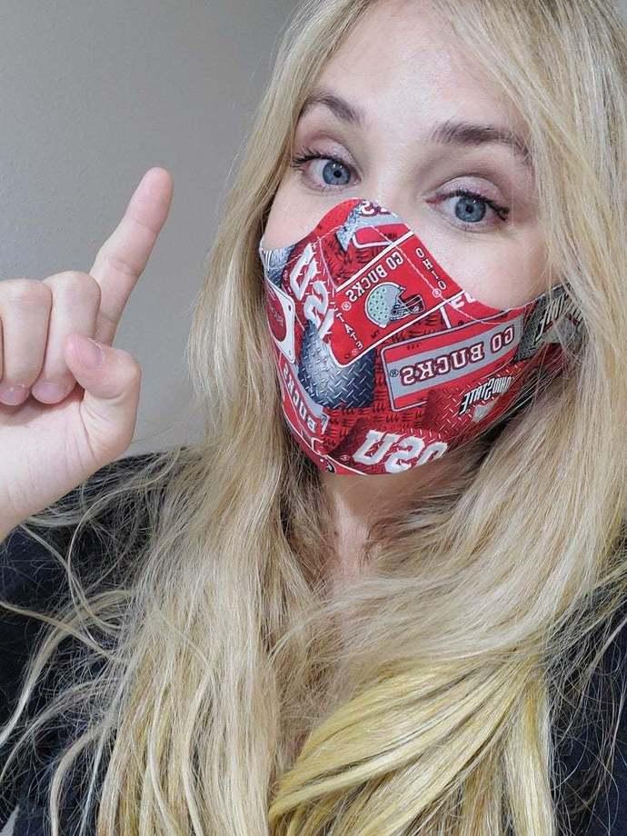 GO BUCKEYES! Ohio State University, Washable Face mask, 100 percent cotton,