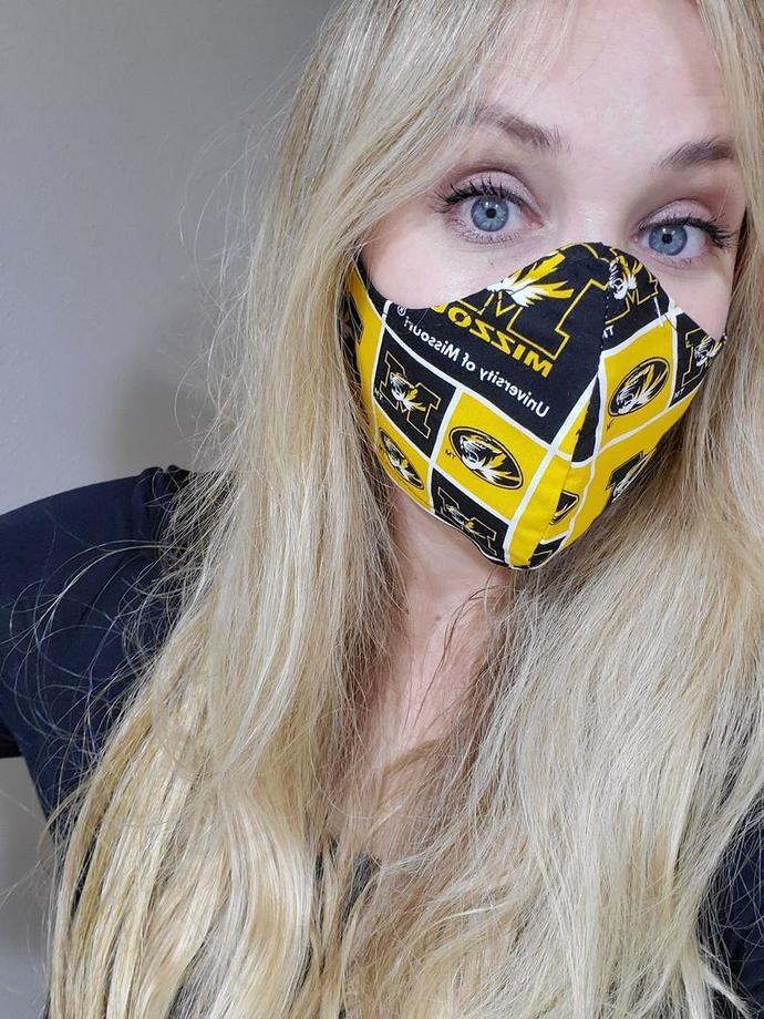University of Missouri , Mizzou Washable Face Mask, Double Layered, USA,