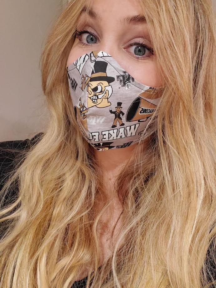 Wake Forest University, North Carolina, Washable Face mask, 100 percent cotton,