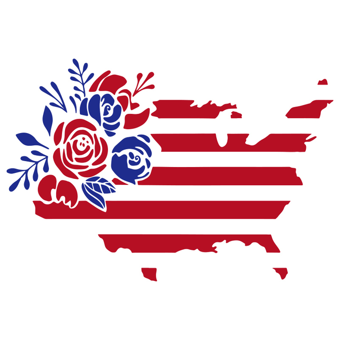 Floral American Flag,4th of july svg,independence day,american flag,USA