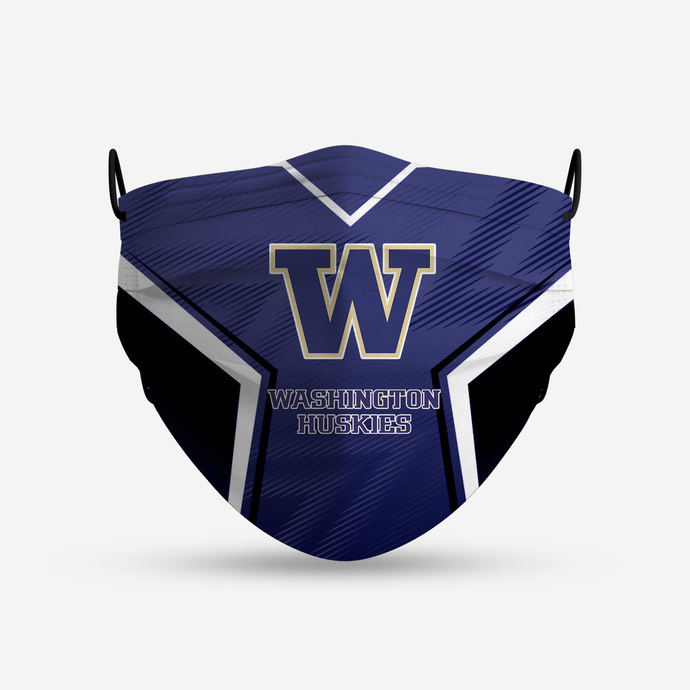 Washington Huskies Style 4 Face Mask, Adult Face Mask, Sport Face Mask, Reusable