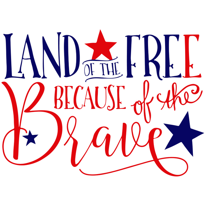 Land of the free because of the brave,4th of july svg,independence day,american
