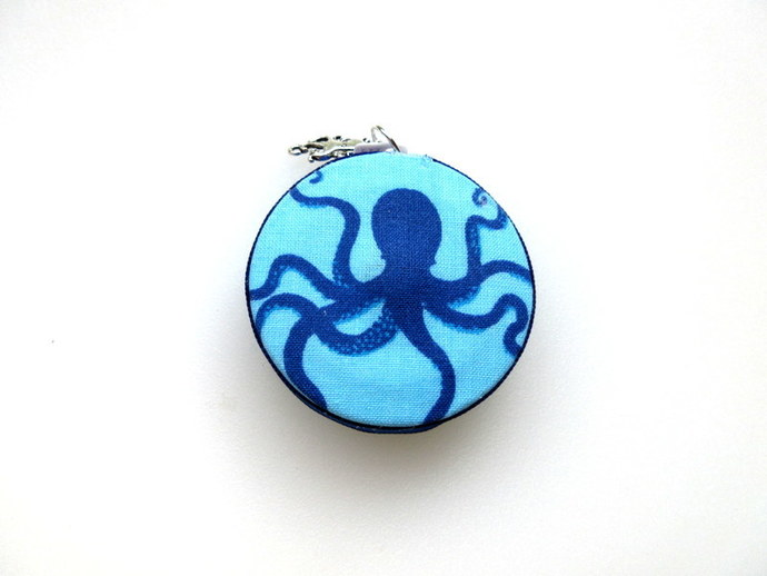 Tape Measure Blue Octopus Small Retractable Measuring Tape