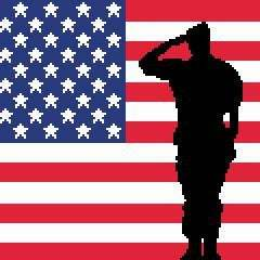 Soldier Saluting US Flag C2C Crochet Pattern Graph Graphghan Afghan Blanket