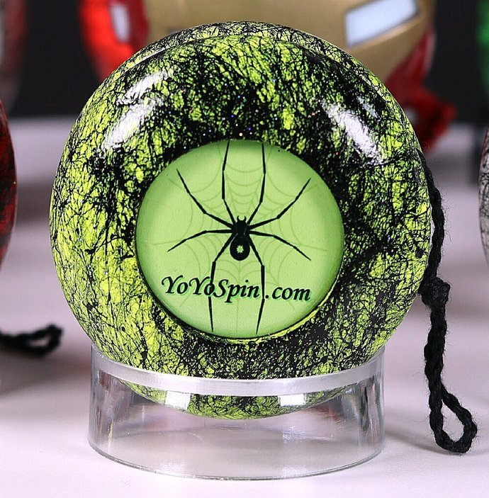 Spider Yo-Yo ... Lime/Black