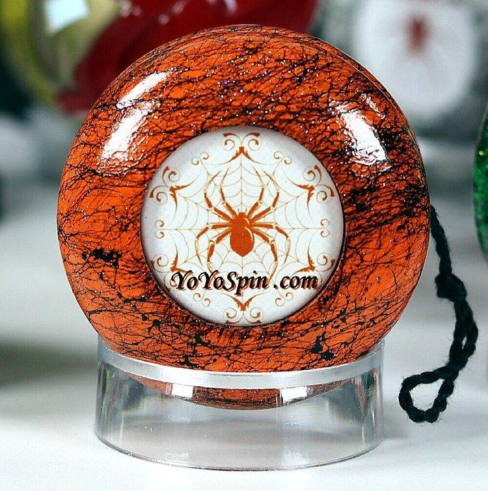 Spider Yo-Yo ... Orange/Black