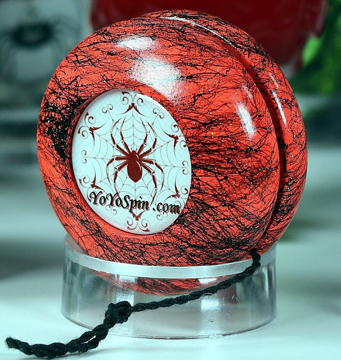 Spider Yo-Yo ... Peach/Black