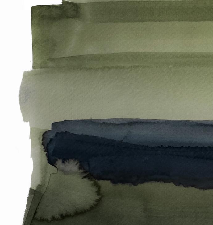 Set of 2 Prints, watercolor green, Green Abstract Print , Abstract Painting