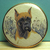 Imitation Satsuma Ceramic Stella Rzanski Dog Button