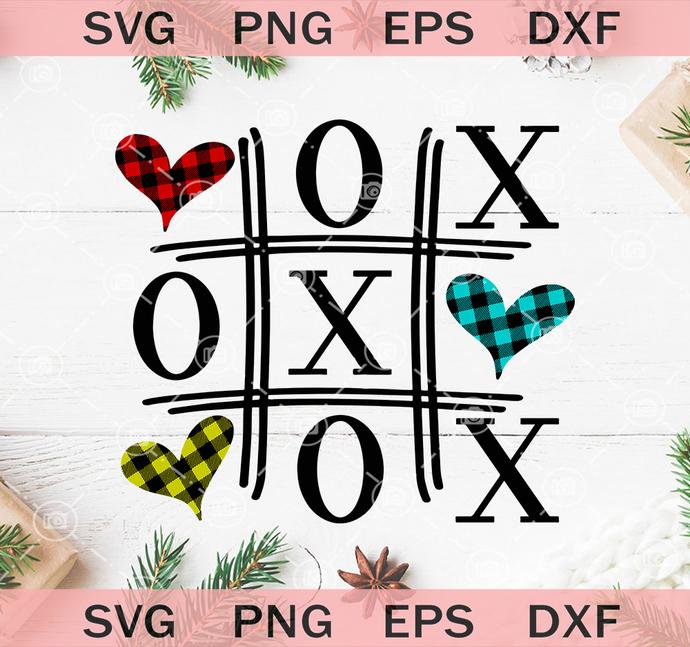 Xoxo Svg Tic Tac Toe Svg Valentines Day By Cherishsvgstudio On Zibbet
